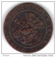 COINS  PAYS BAS  INDIA KM 306 1/2 Ct 1859.   (DP159) - Indes Néerlandaises