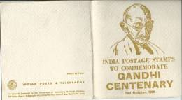1969 Gandhi Centenary Booklet Shows Stamps Issued For Centenary Front Back And Inside Shown - India