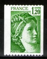 Sabine N°2103**_décentrage à Droite_liseré Phospho Gauche_bande En I_2 Scans_(v395) - Variétés: 1970-79 Neufs