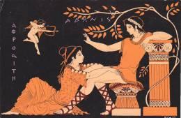 21225 Memoires Grece Ancienne, Vénus Et Adonis -atelier Victor Ceramique Athenes Grece