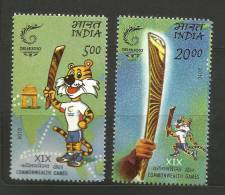 INDIA, 2010, Queens Baton Relay, XIX Commonwealth Games,Set 2 V,  MNH, (**) - India
