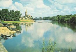 21232 Chalonnes-sur-Loire, La Loire Et L'église Saint-Maurille, Artaud Frères XN 109  Drague Sable Carriere - Chalonnes Sur Loire