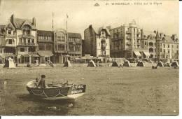 CPA  WIMEREUX, Villas Sur La Digue, Barque St Paul  6903 - Otros Municipios