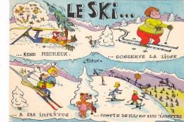21236 Le Ski Rend Heureux, Conserve Ligne . Dessin Patrick. Edy Chamberry - Sports D'hiver