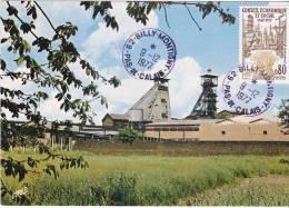 Carte-Maximum FRANCE N° Yvert 1957 (Puits De Mines) Obl Sp Billy-Montigny (Ed Pierron) - Cartas Máxima