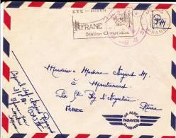 MAROC - 1956 - ENVELOPPE FM Par AVION De IFRANE Par MEKNES - 5° RGT D´INFANTERIE - Marcophilie (Lettres)