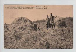 Belgisch Congo Belge CP Vue 10 Surchargé Est Africain Allemand Occupation Belge Unused AP197 - Entiers Postaux