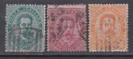 Italien-Italiane 1879 / Mi: 37-39 / I 101 - 1878-00 Humbert I