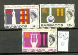 BARBADOS - 259/61  UNESCO  Gestempelt  USED - Barbados (1966-...)