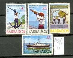 BARBADOS - 262/5  Hafenpolizei  Gestempelt  USED - Barbados (1966-...)