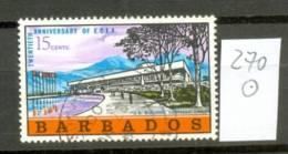 BARBADOS - 270  Wirtschafzskommission  Gestempelt  USED - Barbados (1966-...)