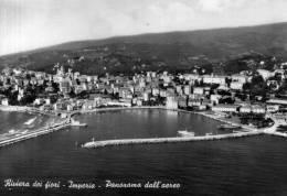 """Bellissima   Cartolina   Anni 60     """"  Riviera Dei Fiori  - Imperia - Panorama Dall'aereo   """" - Imperia"""
