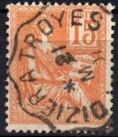 1900 TYPE II  MOUCHON YT N° 117  Oblitere Cachet AMBULANT FRANCE SAINT DIZIER  A TROYES - Gebruikt