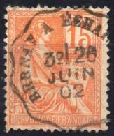 1900 TYPE II  MOUCHON YT N° 117  Oblitere Cachet AMBULANT FRANCE BERNAY  A  ECHAUFFOUR - Gebruikt