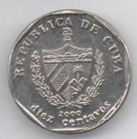 CUBA 10 CENTAVOS 2000 - Cuba