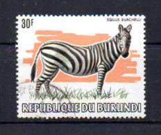 Burundi 1983,  30F Zèbre, 885 Ølégère     VF - 1980-89: Oblitérés