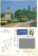 Cart512 Melbourne, Victoria, Old Tram Tramways, Shrine Remembrance, Vintage Auto, Cars Bmw Opel Ford Regent Bower Bird - Melbourne