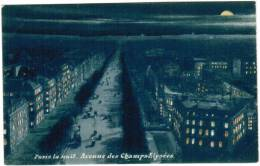 CPA Paris La Nuit, Avenue Des Champs Elysées (pk6045) - Paris La Nuit