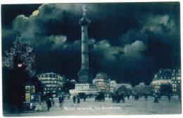 CPA Paris La Nuit, La Bastille (pk6046) - Parijs Bij Nacht