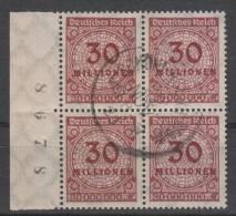 D.R.320,4erblock,   Gestempelt.gep.gefaltet - Used Stamps
