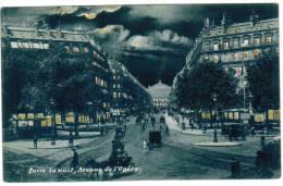CPA Paris La Nuit, Avenue De L'Opera (pk6054) - Parijs Bij Nacht