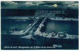 CPA Paris La Nuit, Perspective De La Place De La Concorde (pk6055) - Paris La Nuit