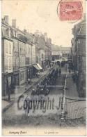 "Cpa: Longwy - Haut "" La Grande Rue +  Cavaliers + Dragons - Longwy"
