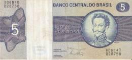 BILLETE DE BRASIL DE 5 CRUZEIROS (BANK NOTE) - Brasil