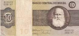 BILLETE DE BRASIL DE 10 CRUZEIROS (BANK NOTE) - Brésil