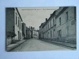 49 - FONTEVRAULT - RUE PRINCIPALE - Otros Municipios