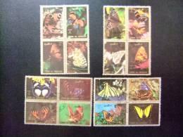 UMM AL QIWAIN  1973   16 SELLOS   MARIPOSAS - Papillons