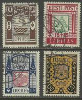 Estland Estonia 1938 CARITAS Michel 131 - 134 O - Estonia