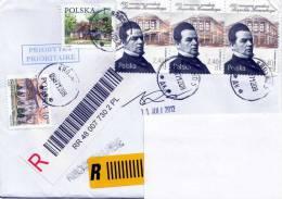R-Brief Rumänien > Österreich, Schöne 5 Fach Frankierung - 1948-.... Republiken