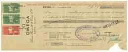 Switzerland:Revenue Stamp On Document 1964 - Lettres De Change