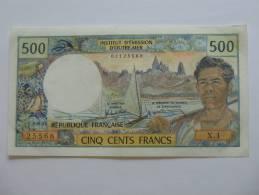 Rare Et Recherché Billet De 500 Francs  NOUVELLE CALEDONIE - NOUMEA - Institut D´émission D´Outre-mer. - Nouvelle-Calédonie 1873-1985