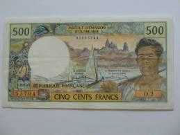 Rare Et Recherché Billet De 500 Francs  NOUVELLE CALEDONIE - NOUMEA - Institut D´émission D´Outre-mer. - Nouméa (New Caledonia 1873-1985)