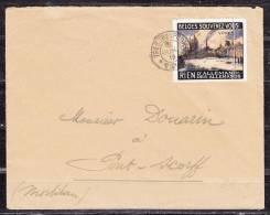 Brief, Marine Nationale Ambulance, Vignette Ypres, Stempel Tresor Et Postes + AK-Stempel Pont-Scorff 1918? (37100) - Weltkrieg 1914-18