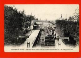 Enghein-les-Bains - Intérieur De La Gare - Le Départ D'un Train - Enghien Les Bains