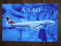 Turkish Airlines A 340 Carte Postale - 1946-....: Moderne