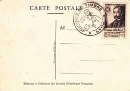 JOURNEE DU TIMBRE 1948 -LYON  -ARAGO-  COTE : 30 € - ....-1949