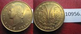 Africa Occidental Francesa, 5 Francos 1956  , Afrique Occidentale Française - Monedas