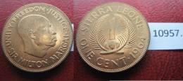 Sierra Leona 1 Centimo  1964 - Monedas