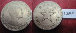 Ghana 2 Shillings 1958 - Monedas