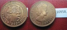 Chipre  5  Mils  1955 - Monedas