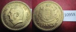 Monaco  2  Francos No Datada 1945 , Aluminio Bronce , Aluminium Bronze - Monedas