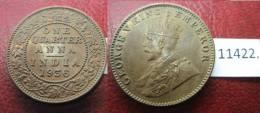 India Britanica , 1/4 Rupia 1936 B - Monedas