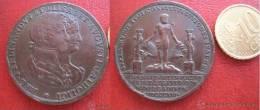 España, Medalla Boda Real , Cadiz 1816 , Fernando VII , 7º E Isabel De Braganza - Monarquía/ Nobleza
