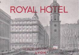 FRANCE LYON ROYAL HOTEL VINTAGE LUGGAGE LABEL - Hotel Labels