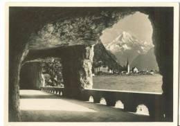 Switzerland, Axenstreet With Fluelen And Mt. Bristenstock Mini Real Photo [12605] - Photography