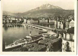 Switzerland, Luezern, Lucerne, Lake-bridge And Pilatus Mini Photo [12607] - Photography